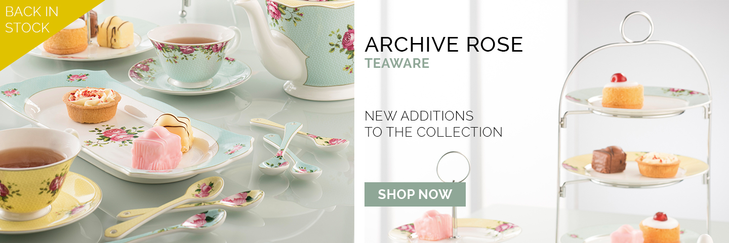 Archive Rose Teaware back in stock with new additions