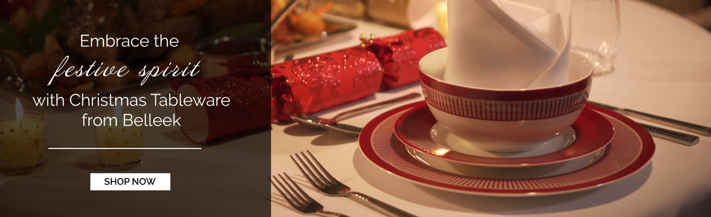 Embrace the festive spirit with Christmas Tableware from Belleek