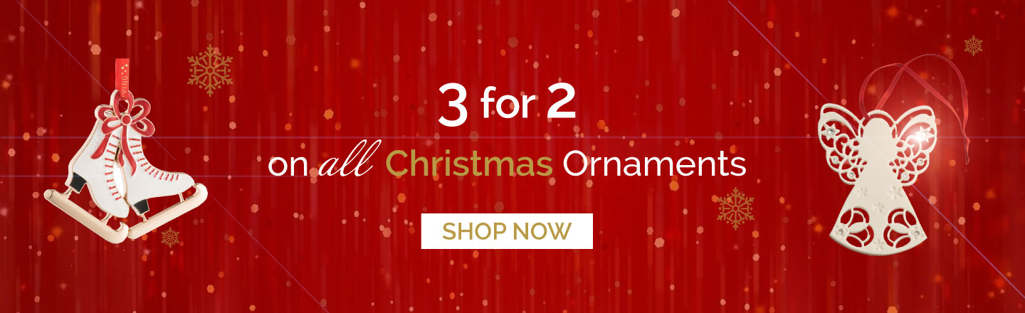3 for 2 on ALL Christmas Ornaments