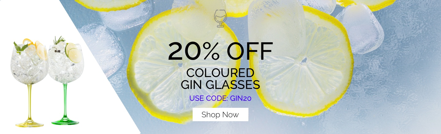 20% OFF Coloured Gin Glasses
