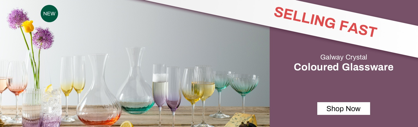 Galway Crystal Coloured Glassware