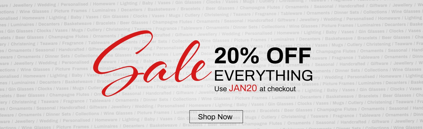 20% Off Everything - Shop Now - Use Code JAN20