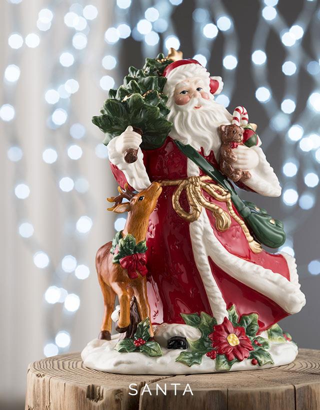 Belleek Living Tree Ornaments Christmas Santa