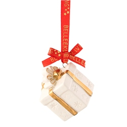 Belleek Living Mini Gift Box Ornament