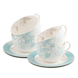Belleek Living Novello Teacup and Saucer Set