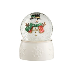 Belleek Living Snowman Snowglobe