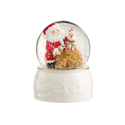 Belleek Living Santa Snowglobe