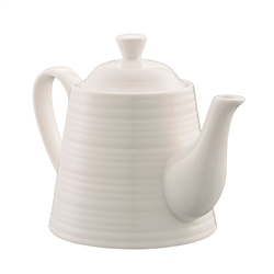 Belleek Living Ripple Teapot for One