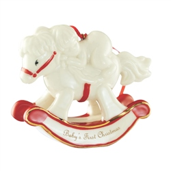 Belleek Living Baby's First Christmas Rocking Horse