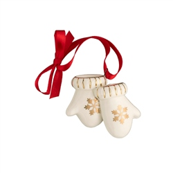 Belleek Living Mini Mittens Ornament