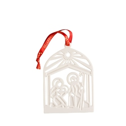 Belleek Living Nativity Flat Ornament