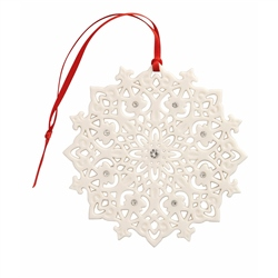 Belleek Living Snowflake Ornament