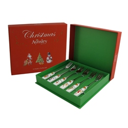 Aynsley Christmas Pastry Forks Set