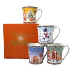 Aynsley Christmas Mugs Set