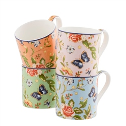 Aynsley Cottage Garden Windsor Mugs Set