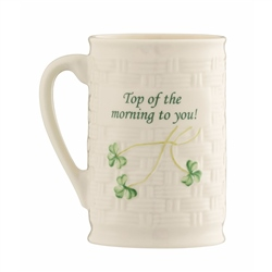 "Belleek Classic ""Top Of The Morning To You"" Mug"