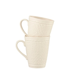 Belleek Classic GALWAY WEAVE 15oz MUG PAIR