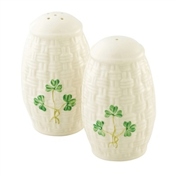 Belleek Classic SHAMROCK SALT & PEPPER SET
