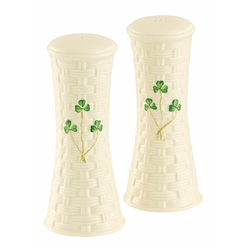 Belleek Classic SHAMROCK TALL SALT & PEPPER