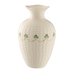 "Belleek Classic Shamrock 6"" Braid Vase"