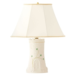 Belleek Classic Castle Lamp and Shade