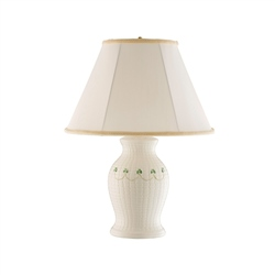 Belleek Classic Braid Lamp and Shade UK Fitting