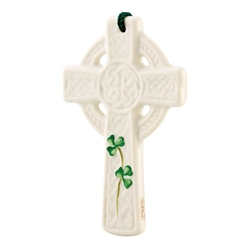 Belleek Classic St Kieran's Celtic Cross Ornament