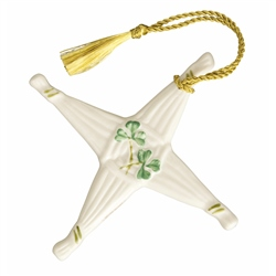 Belleek Classic ST.BRIDGETS CROSS ORNAMENT