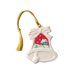 Belleek Classic Christmas Scene Hanging Ornament