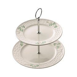 Belleek Classic Shamrock 2 Tiered Server