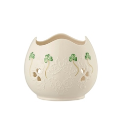 Belleek Classic Shamrock Lace Votive