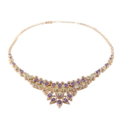 Designer Jewellery Peridot and Purple Necklace