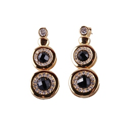 Designer Jewellery Onyx Diamond Earrings