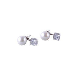Designer Jewellery Pearl Diamante Earrings