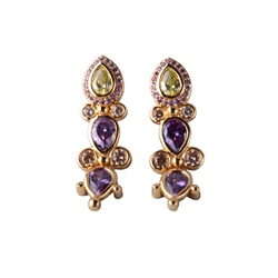 Designer Jewellery Peridot and Purple Earrings