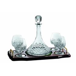 Galway Crystal Longford MiniBrandy Decanter Set