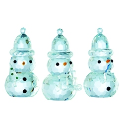 Galway Living Gem Snowmen - Hanging Ornaments