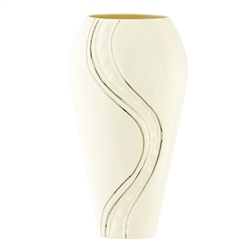 "Belleek Living Silver Ripple 9"" Vase"