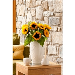 "Belleek Living Sunflower 9"" vase"