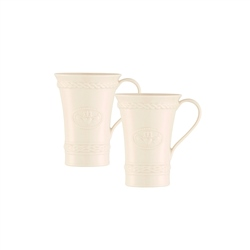 Belleek Classic CLADDAGH LATTE MUGS PAIR