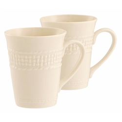 Belleek Classic GALWAY WEAVE 10oz MUG PAIR