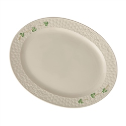 Belleek Classic SHAMROCK LARGE OVAL PLATTER