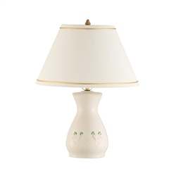 Belleek Classic Shamrock Lace Lamp and Shade