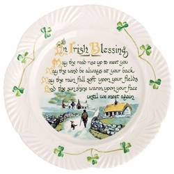 Belleek Classic Irish Blessing Plate