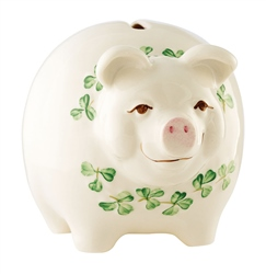 Belleek Classic Pig Money Bank