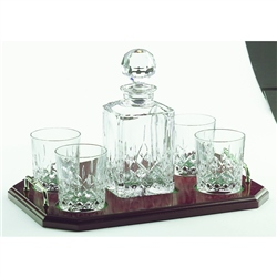 Galway Crystal Longford Square Decanter Set