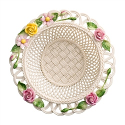 Belleek Classic Rose Gerbera Basket