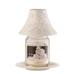 Belleek Living Aroma Candle Shade and Tray