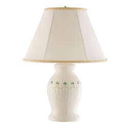 Belleek Classic Braid Lamp and Shade US Fitting