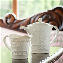 Belleek Classic Claddagh Tea Set